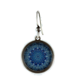 Earth Dreams Blue Tree Circle Earrings