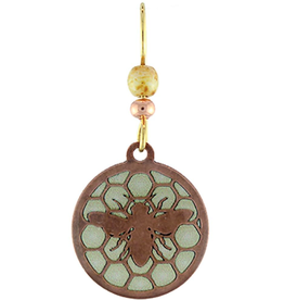 Earth Dreams Bee's Royal Jelly Copper w/ White Bead