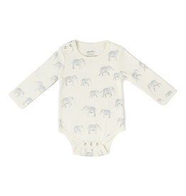 Pehr Organic Shoulder Snap One-Piece - Elephant