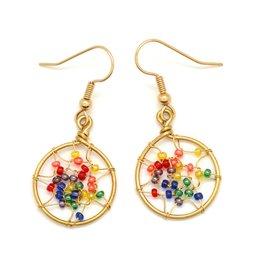 Dunitz & Company Rainbow Dream Catcher Earrings