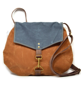 Rachel Elise Satchel -River Waxed Canvas // Vegan Crossbody Bag