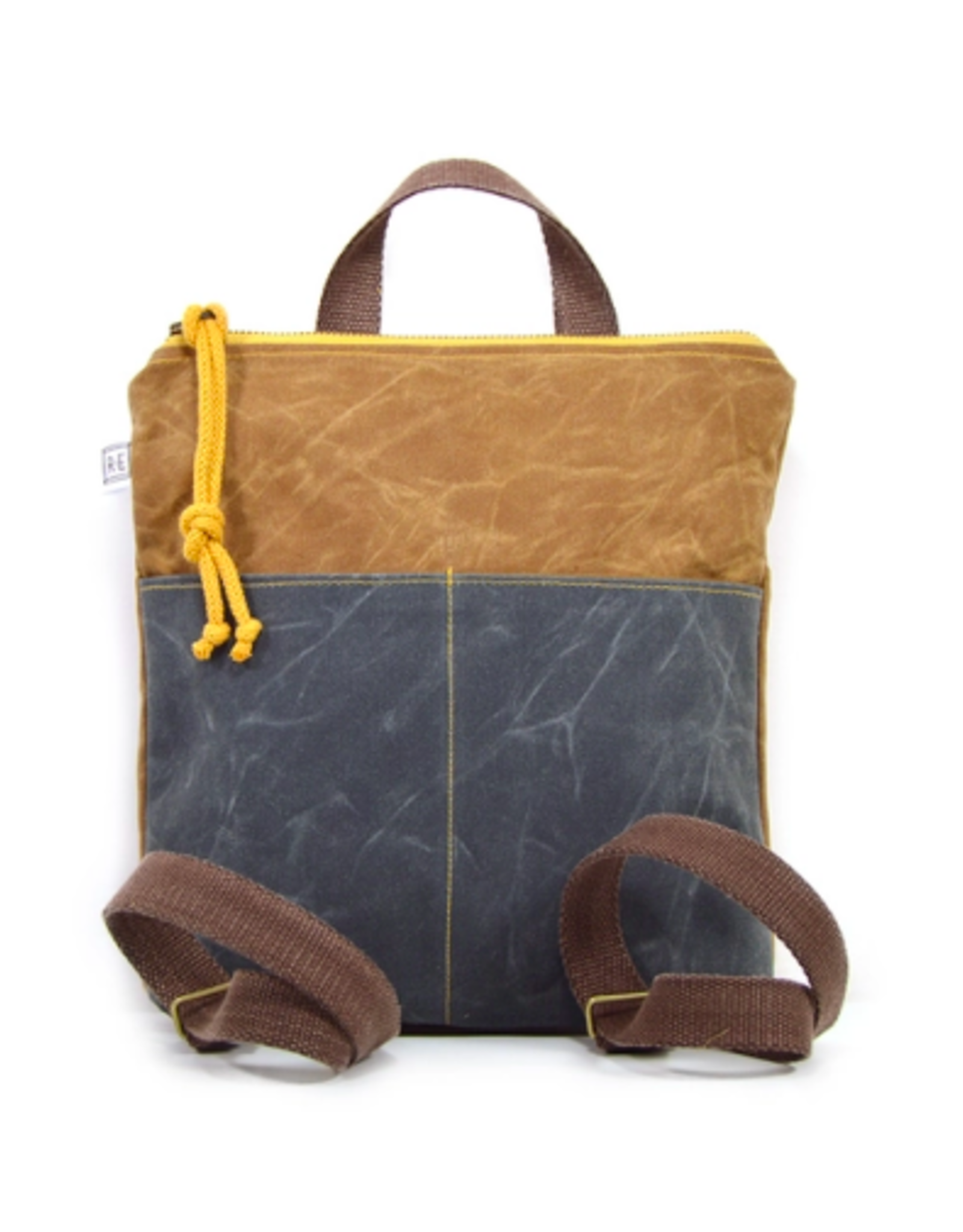 Rachel Elise Mini Waxed Canvas Backpack
