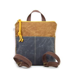Rachel Elise Mini Waxed Canvas Backpack