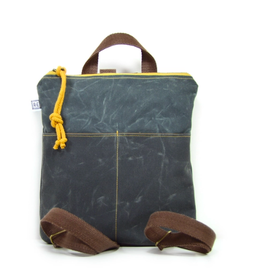 Rachel Elise Mini Backpack - River Waxed Canvas