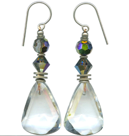 Owen Glass Colletion Faceted Crystal Clear Drops