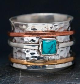 Baizaar Spinning Meditation Ring-Turquoise