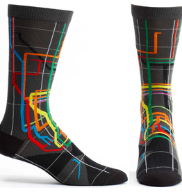 Ozone Designs MTA Vignelli Diagram - Mens Socks