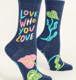 Blue Q Love Who You Love Women's Crew Socks