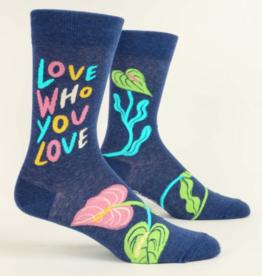 Blue Q Love Who You Love Men's Crew Socks