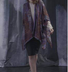 VSA Accessories Purple Mosaic Print Kimono