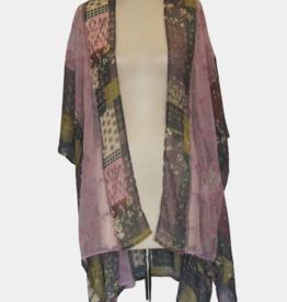 VSA Accessories Lilac Lace Floral Kimono
