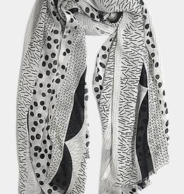 VSA Accessories Pop of Colour Scarf- Black/White