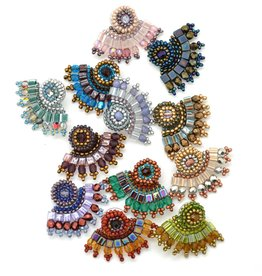 Dunitz & Company Fan Ear Lobe Hugger Earrings- Assorted Colors