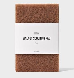 Public Goods Walnut Scouring Pad 4 ct