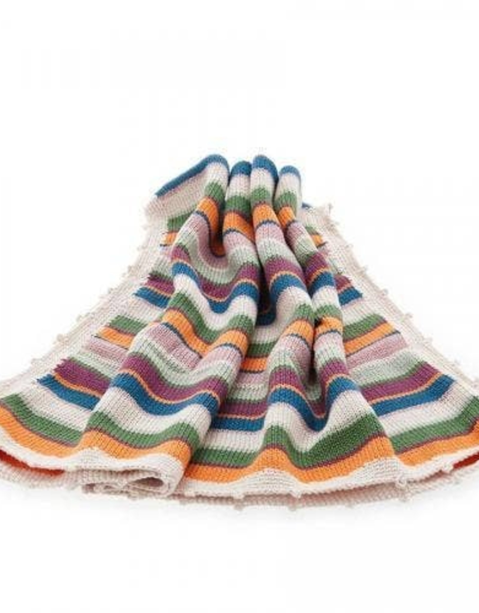 Pebble Stripey Rainbow Blanket