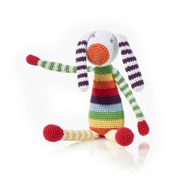 Pebble Rainbow Bunny Rattle