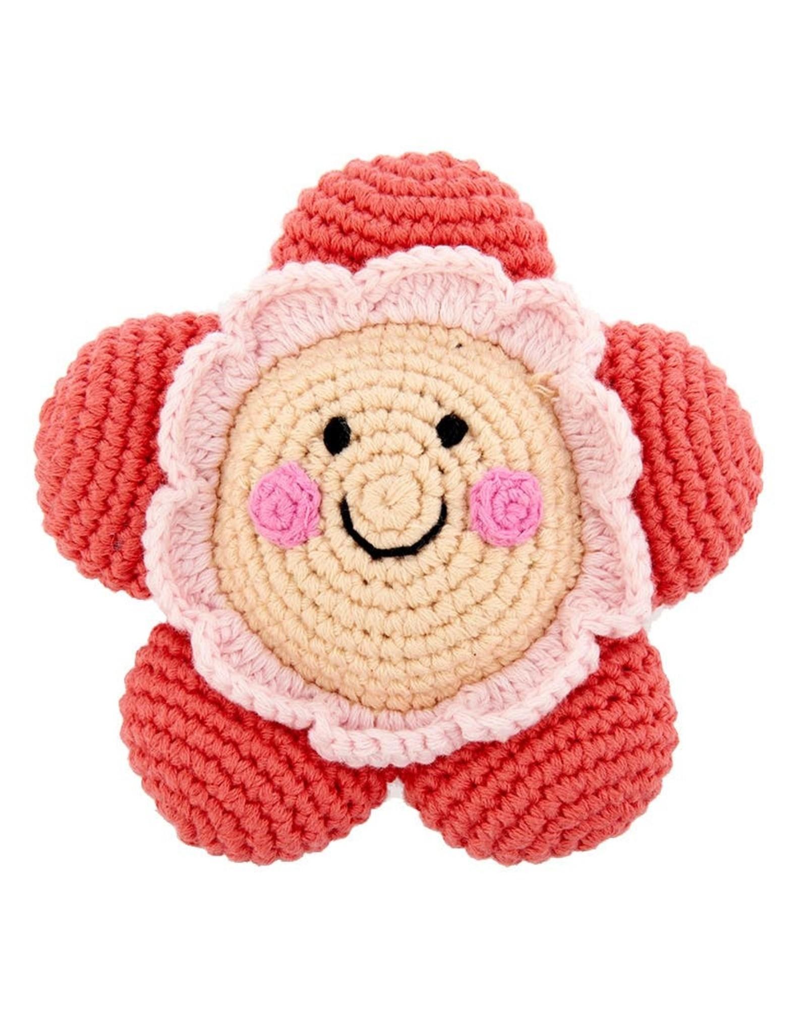 Pebble Friendly Flower Rattle