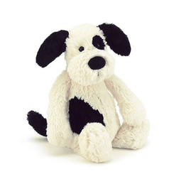 Jelly Cat Bashful Black & Cream Puppy-Small