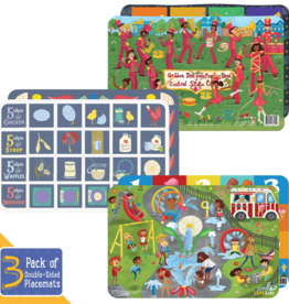 Little Likes Kids 3-Pack 2-sided Toddler Placemats