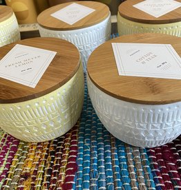 Paddywax Sonora Ceramic Candle w/ Bamboo Lid