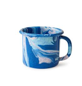 Crow Canyon Home Bornn Multi - Colored Swirl Enamelware Mug 12 oz