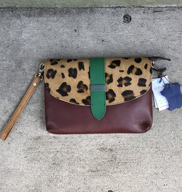 Soruka Saddle Print Leather Bag