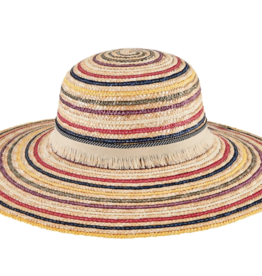 San Diego Hat Straw Stripe Sun Hat