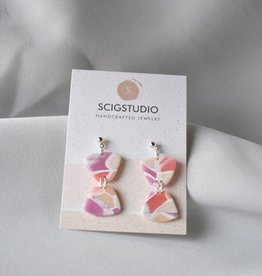 ScigStudio Small Stained Glass Clay Earrings