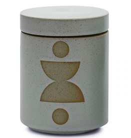 Paddywax Form 12 oz.  Mint Glazed Ceramic with Lid/  Candle-Ocean Rose & Bay