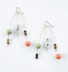 Mata Traders Kelsey Mobile Earrings Gold