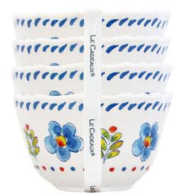 le cadeaux Madrid White Set of Four Dessert Bowls