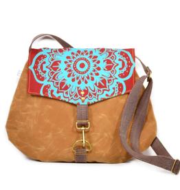 Rachel Elise Satchel - Mesa Lotus // Waxed Canvas Crossbody Bag