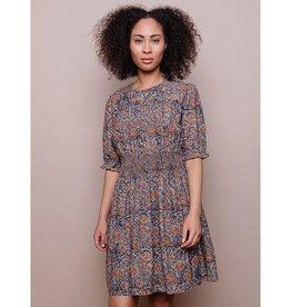 Mata Traders Henrietta Smocked Dress Blue