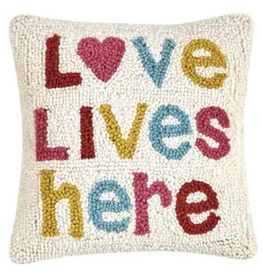 Love Lives Here Hook Pillow