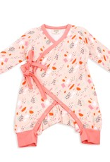 Viverano Organics Bloom Kimono Romper Long Sleeve Blush