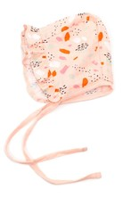 Viverano Organics Bloom Ruffled Bonnet Hat Blush- 0-6M