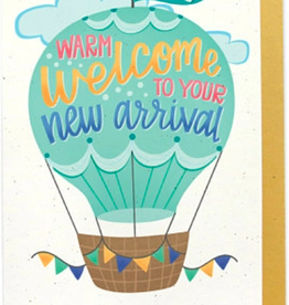 Hennel Paper Co. Baby Card - Hot Air Balloon