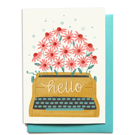 Hennel Paper Co. Hello Card - Typewriter