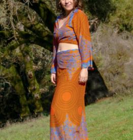 Zig Zag Neon Mandala Sarong Skirt