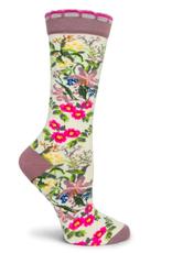 Ozone Designs Honeysuckle Socks -Cream