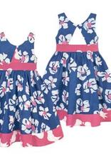 Global Mamas Baby-Twirl Dress-Tropics-Indigo-Organic