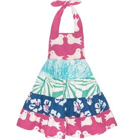 Global Mamas Girls Twirl Dress-Tropics-Indigo-Organic