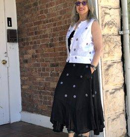 Porto Dots Hanky Hem Skirt