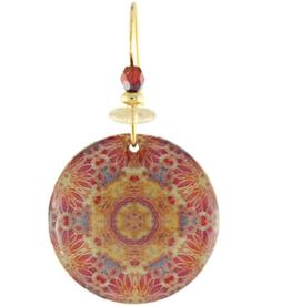 Earth Dreams Golden Mandala Earrings