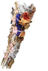 Liv Rocks Large White Sage + Flower Smudge Sticks