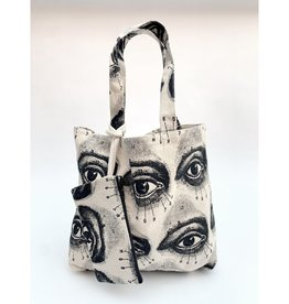 Rubyzaar Canvas Daily Tote + Wristlet