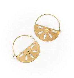 Matr Boomie Chameli Earrings- Petal Hoop