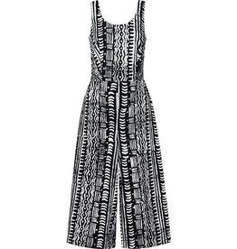 Global Mamas Batik Organic Cotton Jumpsuit- Pathways Black