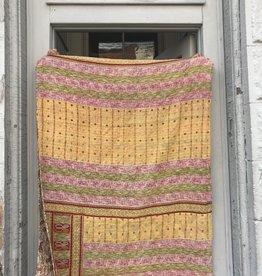 Nomads & Settlers Boho Sari Quilt, Yoga Blanket One of a Kind