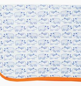 mirasa Organic Hippo+Rhino Baby Blanket